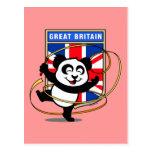 Great Britain Rhythmic Gymnastics Panda Postcards