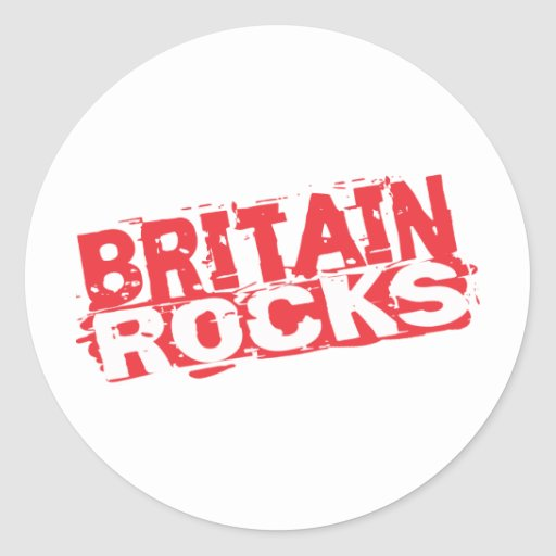 Great Britain Rocks Classic Round Sticker