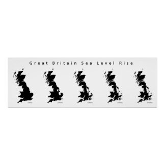 Great Britain Sea Level Rise Poster