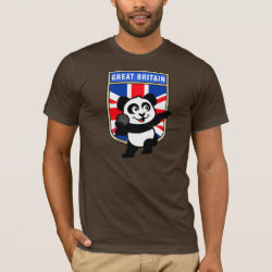 Men's Basic American Apparel T-Shirt with British Shot Put Panda design