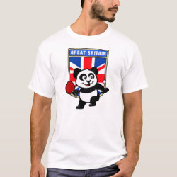 Men's Basic T-Shirt with British Table Tennis Panda design