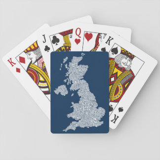 Great Britain UK City Text Map Card Deck