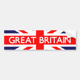 Great Britain UK Flag Bumper Sticker