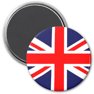 Great Britain Union Jack 3 Inch Round Magnet