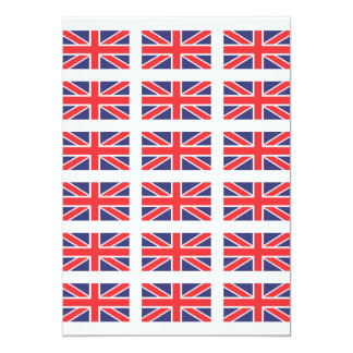 Great Britain Union Jack Flag Invitation