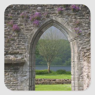 Great Britain, United Kingdom, Scotland. Ruins Square Sticker