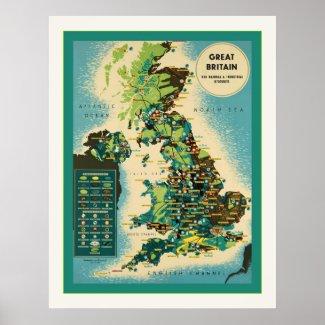 Great Britain ~ Vintage British Travel Print