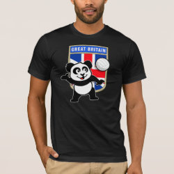 Men's Basic American Apparel T-Shirt with Great Britain Volleyball Panda design