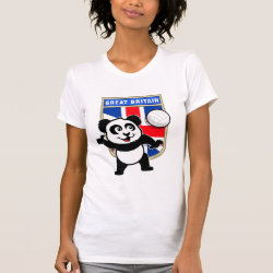 Great Britain Volleyball Panda Women's American Apparel Fine Jersey Short Sleeve T-Shirt