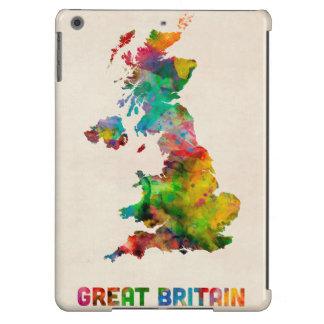 Great Britain Watercolor Map iPad Air Covers