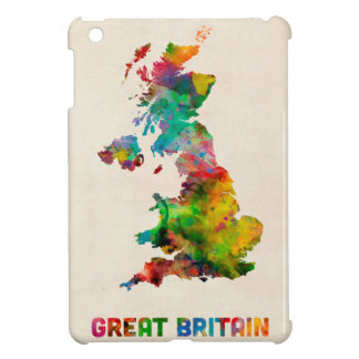 Great Britain Watercolor Map iPad Mini Covers