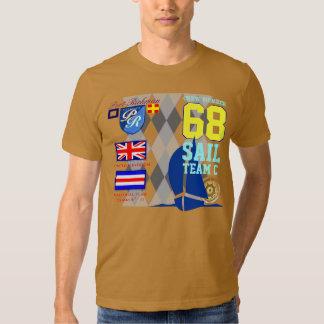Great Britain Yachting Port Richman Marine Argyle Tee Shirt