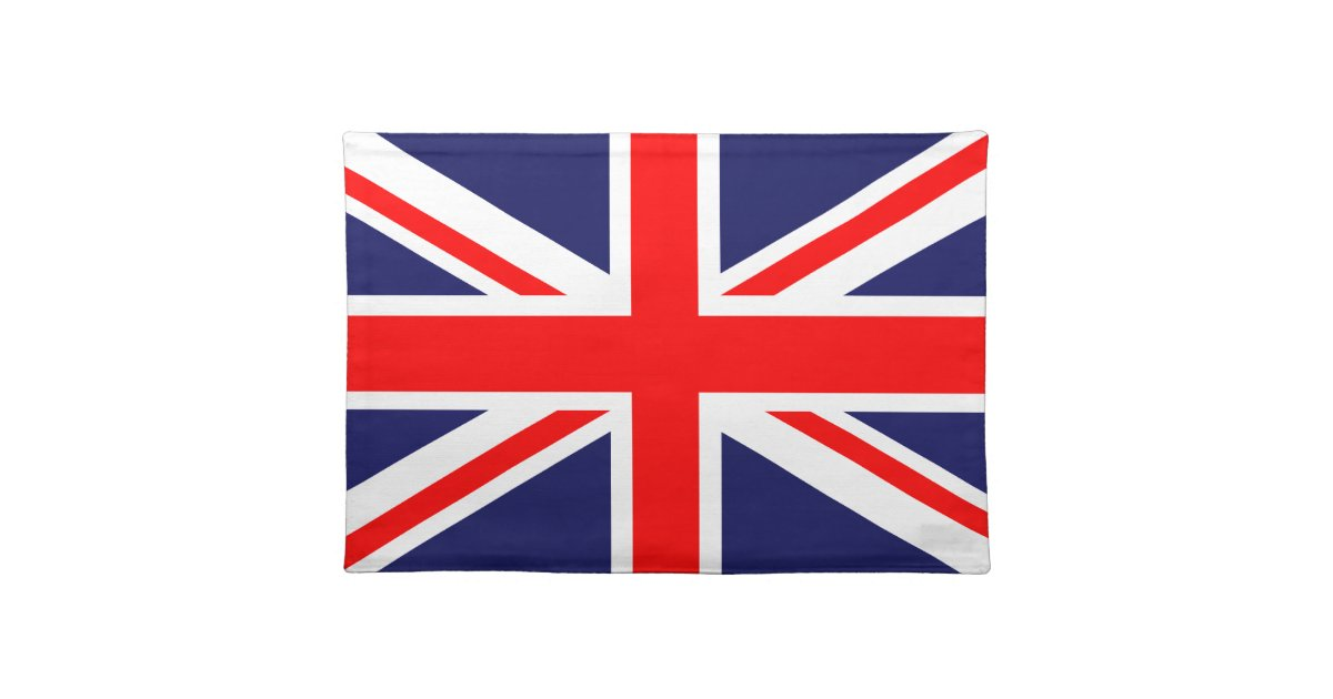 great britian flag placemat zazzle. Black Bedroom Furniture Sets. Home Design Ideas