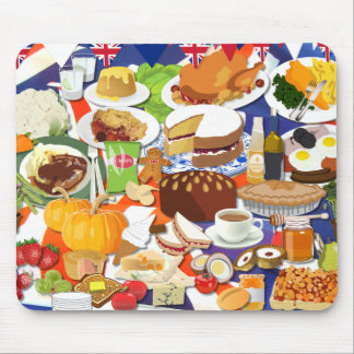 Great British Food Mouse Pad
