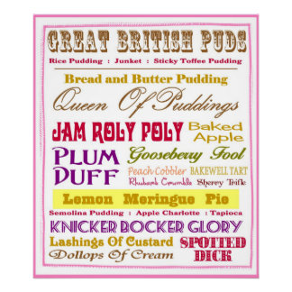 Great British Puds Poster