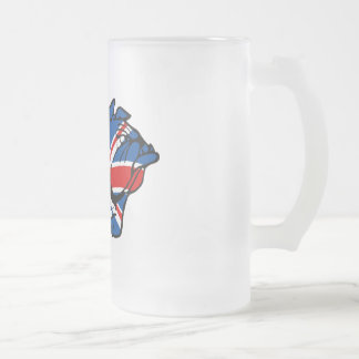 Great British Union Jack Frosted Glass Beer Mug
