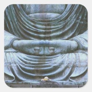 Great Buddha Detail, Kotokuji Temple, Kamakura, 2 Square Sticker