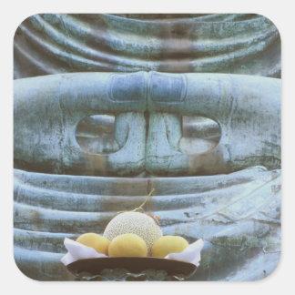 Great Buddha Detail, Kotokuji Temple, Kamakura, Square Sticker