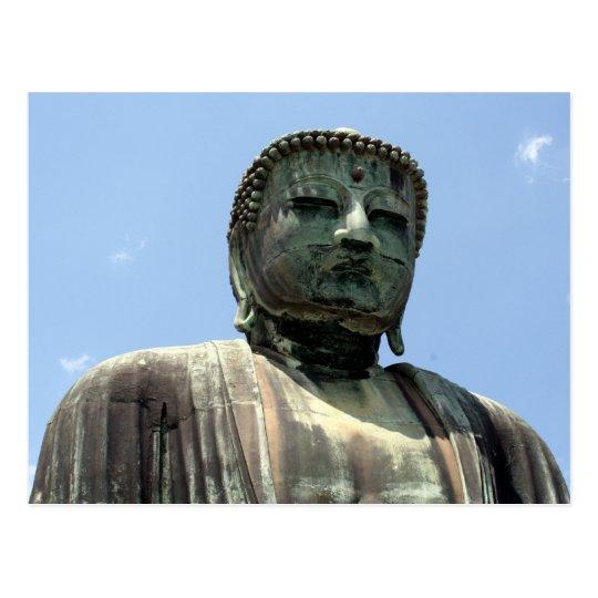 great buddha face postcard