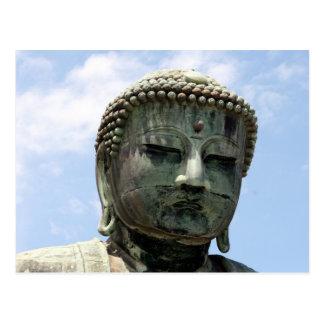 great buddha head postcard