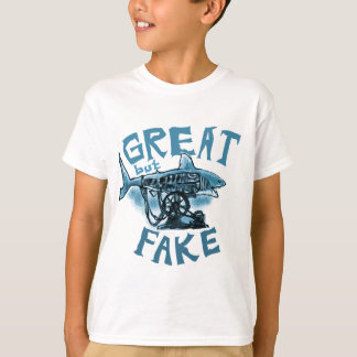 great but fake - blue T-Shirt