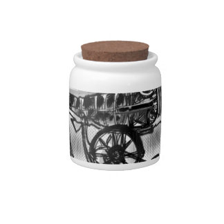 great but fake grey candy jars