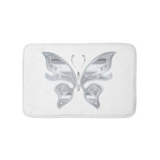 great butterfly design bathroom mat