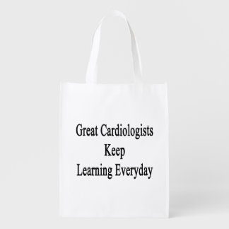 Great Cardiologists Keep Learning Everyday Grocery Bag