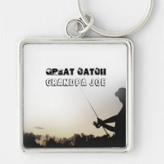 Great Catch - Artsy Fisherman Fishing Personalized Keychain