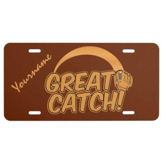 GREAT CATCH! custom license plate