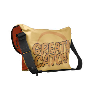 GREAT CATCH! custom messenger bag