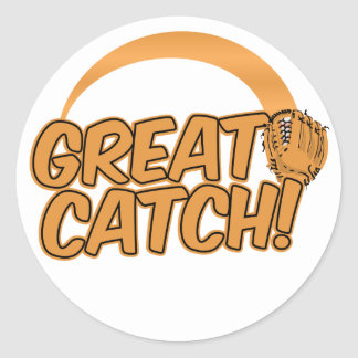 GREAT CATCH! custom stickers