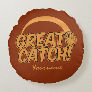 GREAT CATCH! custom throw pillow