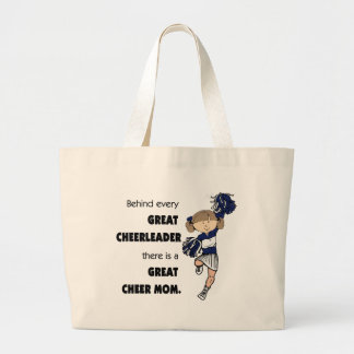 Great Cheer Mom-brown Large Tote Bag