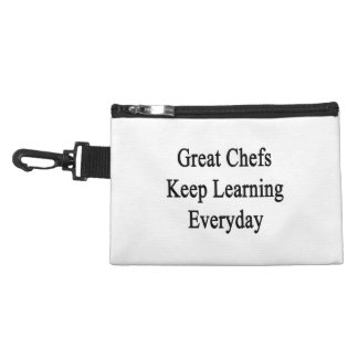 Great Chefs Keep Learning Everyday Accessory Bag