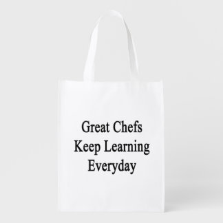 Great Chefs Keep Learning Everyday Reusable Grocery Bag