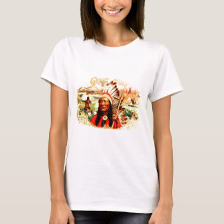"""""""Great Chief"""" Indian warrior leader & peace pipe T-Shirt"""