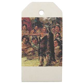 great chief leader wooden gift tags