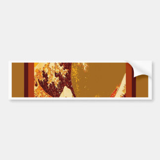 Great Chocolate Waves Design by Sharles Bumper Sticker