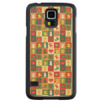 Great Christmas Pattern Carved Maple Galaxy S5 Slim Case