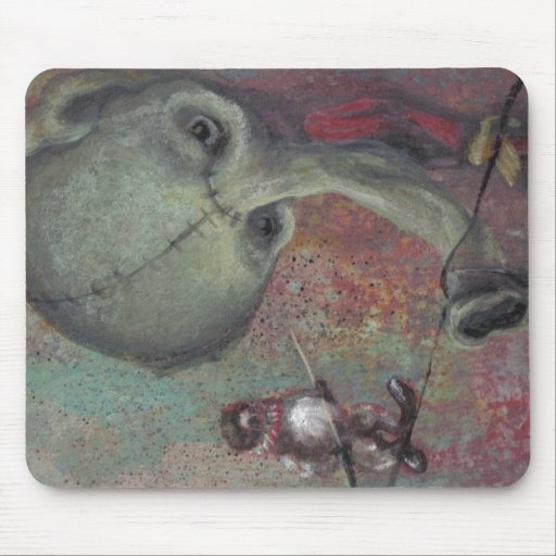 Great Circus Clown and Elephant Mouse Pad
