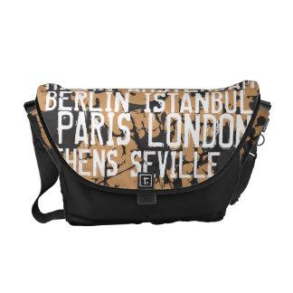 Great Cities of Europe Urban Grunge Black & White Messenger Bag