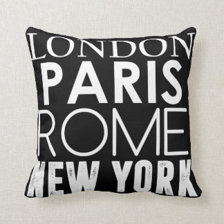 Great Cities of the World Throw Pillow