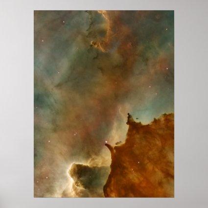 Great Clouds of the Corina Nebula Poster
