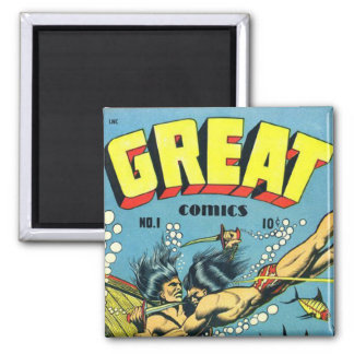 Great Comics 2 Inch Square Magnet