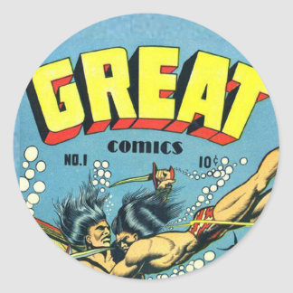 Great Comics Classic Round Sticker