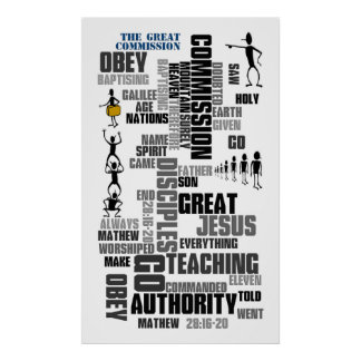 Great Commission Mathew 28 (v1) Poster
