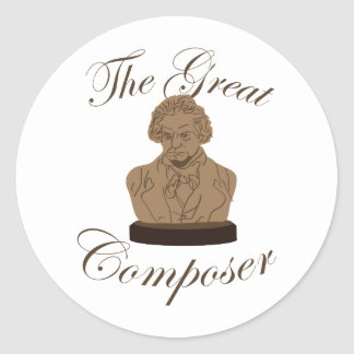 Great Composer Classic Round Sticker