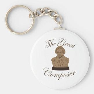 Great Composer Basic Round Button Keychain