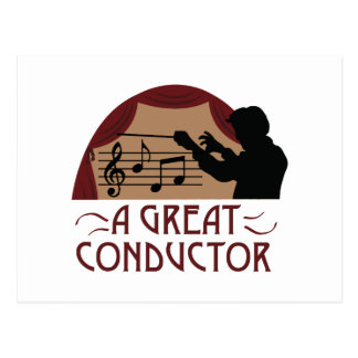 Great Conductor Postcard